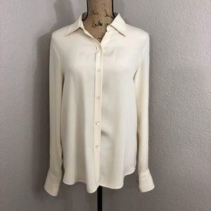 Ralph Lauren Classic Cream Button 100% silk top
